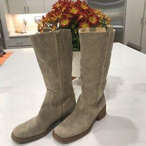 Nine West Suede Boots Tan